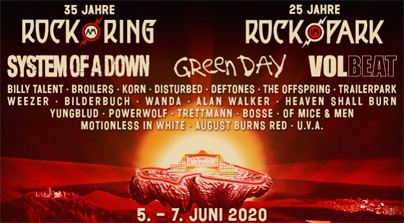 Neue Bandwelle für Rock am Ring 2020