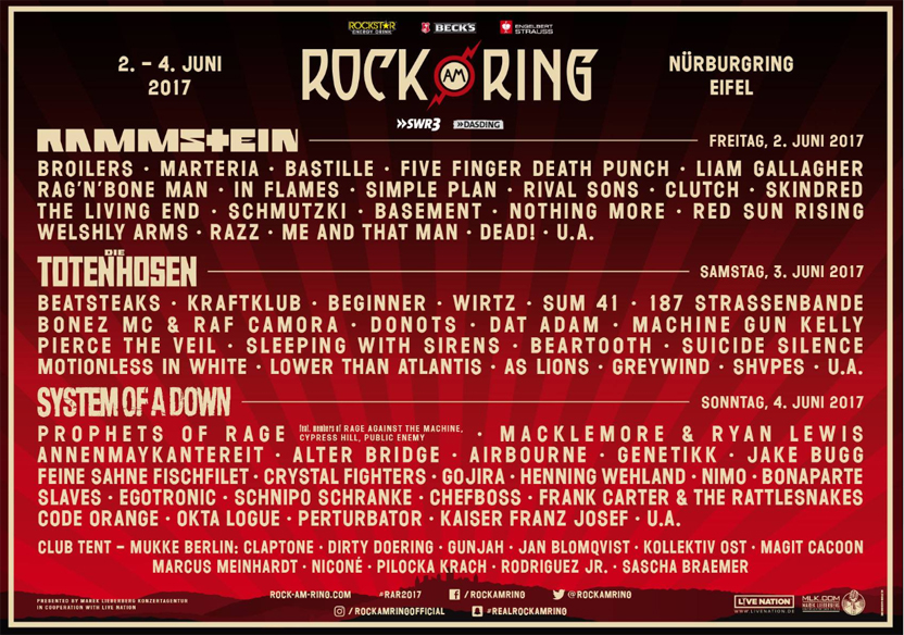 rock am ring 2017. Black Bedroom Furniture Sets. Home Design Ideas